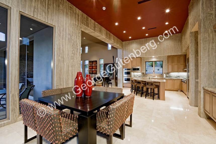 Modern dining are leads to kitchen | Stock Photography ...