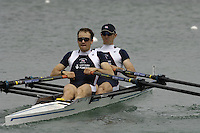 Munich, GERMANY, 2006, FISA, Rowing, World Cup, GBR LM2X bow Time male and James Fynn . held on the Olympic Regatta Course, Munich, Thurs. 25.05.2006. © Peter Spurrier/Intersport-images.com,  / Mobile +44 [0] 7973 819 551 / email images@intersport-images.com..[Mandatory Credit, Peter Spurier/ Intersport Images] Rowing Course, Olympic Regatta Rowing Course, Munich, GERMANY
