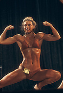 Los Angeles, 1980. Jan Bowden at  California Women's Bodybuilding Championship.