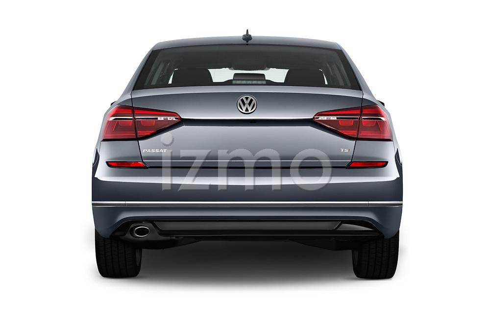 Straight rear view of 2017 Volkswagen Passat R-Line 4 Door Sedan Rear View  stock images