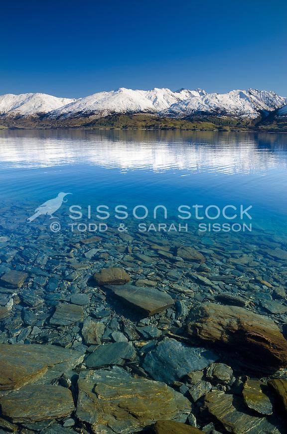 Lake Wanaka, northern end. SH6 South Island, New Zealand