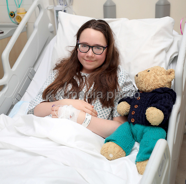 25 May 2017 - Amy Barlow, 12, from Rawtenstall, Lancashire, in the Royal Manchester Children's Hospital where she is being treated after the terror attack in the city earlier this week. Photo Credit: ALPR/AdMedia