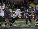 Nevada's Toa Taua (35) runs against Colorado State in the second half of an NCAA college football game in Reno, Nev., Saturday, Oct. 27, 2018. (AP Photo/Tom R. Smedes)