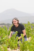 Karen Turner Prieure de St Jean de Bebian. Pezenas region. Languedoc. Vine leaves. France. Europe. Vineyard.