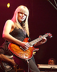 "Orianthi {who appears in Michael Jackson's ""This is It"" } performs live at The Paul Reed Smith's 20th Anniversary Concert held at The Grove of  Anaheim,in Anaheim,California on January 21,2005. Copyright 2005 by DVS / RockinExposures"