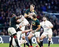 Photo: Richard Lane/Richard Lane Photography. England v South Africa. QBE Autumn International. 15/11/2014. South Africa's Bakkies Botha wins a restart.