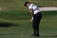 Joel Sjoholm (SWE) on the 9th fairway during Round 3 of the Challenge Tour Grand Final 2019 at Club de Golf Alcanada, Port d'Alcúdia, Mallorca, Spain on Saturday 9th November 2019.<br /> Picture:  Thos Caffrey / Golffile<br /> <br /> All photo usage must carry mandatory copyright credit (© Golffile | Thos Caffrey)