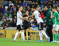Emre Can (Deutschland Germany) kommt für Marco Reus (Deutschland, Germany) - 09.09.2019: Nordirland vs. Deutschland, Windsor Park Belfast, EM-Qualifikation DISCLAIMER: DFB regulations prohibit any use of photographs as image sequences and/or quasi-video.