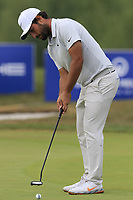 Alexander Levy (FRA) putts on the 12th green during Saturday's Round 3 of the Porsche European Open 2018 held at Green Eagle Golf Courses, Hamburg Germany. 28th July 2018.<br /> Picture: Eoin Clarke | Golffile<br /> <br /> <br /> All photos usage must carry mandatory copyright credit (&copy; Golffile | Eoin Clarke)
