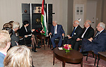 Palestinian President Mahmoud Abbas meets with Minister for Foreign Affairs of Norway, on the sidelines of the General Debate of the 73rd session of the General Assembly at the United Nations, in New York on September 26, 2018. Photo by Thaer Ganaim