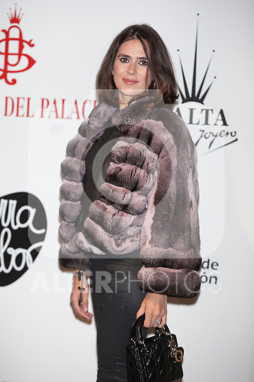 Anna Allen attends Santiago Palacio´s fashion show in Madrid, Spain. November 13, 2014. (ALTERPHOTOS/Victor Blanco)