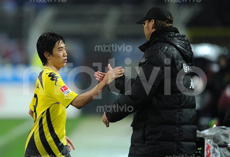 FUSSBALL   1. BUNDESLIGA   SAISON 2010/2010   12. SPIELTAG Borussia Dortmund - Hamburger SV                          12.11.2010 Shinji KAGAWA (li) und Trainer Juergen KLOPP (re, beide Dortmund)