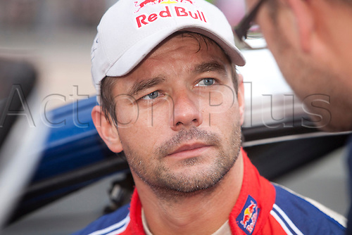 JYVASKYLA, FINLAND - JULY 31: Sebastien Loeb of France pictured on the service area in the WRC Rally Finland on July 31, 2010 in Jyvaskyla, Finland.