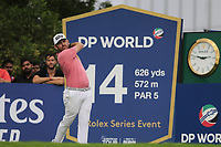 Louis Oosthuizen (RSA) on the 14th tee during the 1st round of the DP World Tour Championship, Jumeirah Golf Estates, Dubai, United Arab Emirates. 21/11/2019<br /> Picture: Golffile | Fran Caffrey<br /> <br /> <br /> All photo usage must carry mandatory copyright credit (© Golffile | Fran Caffrey)
