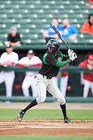Dayton Dragons left fielder Zack Shields (7) during a game against the Peoria Chiefs on May 6, 2016 at Dozer Park in Peoria, Illinois.  Peoria defeated Dayton 5-0.  (Mike Janes/Four Seam Images)
