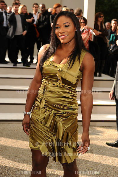 Serena Williams arriving for the Burberry fashion show as part of London Fashion Week at the Chelsea College of Art and Design, London.  22/09/2010  Picture by: Steve Vas / Featureflash