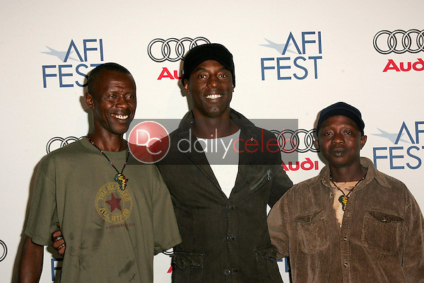 """Abdul Rahim Kamara with Isaiah Washington and Reuben M. Koroma<br />at the After Party following the AFI FEST 2005 premiere of """"The Refugee All Stars"""". Audi Pavilion, Hollywood, CA. 11-09-05<br />Dave Edwards/DailyCeleb.com 818-249-4998"""