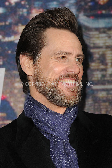 WWW.ACEPIXS.COM<br /> February 15, 2015 New York City<br /> <br /> Jim Carrey walking the red carpet at the SNL 40th Anniversary Special at 30 Rockefeller Plaza on February 15, 2015 in New York City.<br /> <br /> Please byline: Kristin Callahan/AcePictures<br /> <br /> ACEPIXS.COM<br /> <br /> Tel: (646) 769 0430<br /> e-mail: info@acepixs.com<br /> web: http://www.acepixs.com