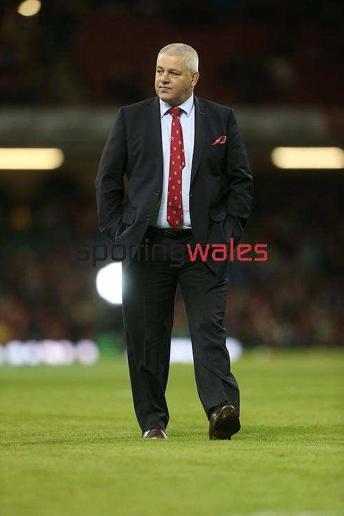 Wales rugby coach Warren Gatland.<br /> RBS 6 Nations 2014<br /> Wales v Italy<br /> Millennium Stadium<br /> 01.02.14<br /> <br /> ©Steve Pope-SPORTINGWALES