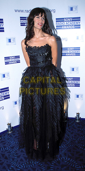LISA B.Sony Radio Academy Awards, Grosvenor House Hotel.Ref: AH.long black strapless dress, full length, full-length.www.capitalpictures.com.sales@capitalpictures.com.© Capital Pictures