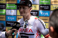 André Greipel (GER/Arkea Samsic) pre stage interview.<br /> <br /> Stage 16: Nimes to Nimes (177km)<br /> 106th Tour de France 2019 (2.UWT)<br /> <br /> ©kramon