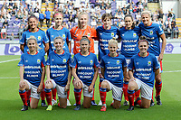 20190813 - ANDERLECHT, BELGIUM : Linfield's team pictured during the female soccer game between the Belgian RSCA Ladies – Royal Sporting Club Anderlecht Dames and the Northern Irish Linfield ladies FC , the third and final game for both teams in the Uefa Womens Champions League Qualifying round in group 8 , Tuesday 13 th August 2019 at the Lotto Park Stadium in Anderlecht , Belgium  .  PHOTO SPORTPIX.BE | STIJN AUDOOREN