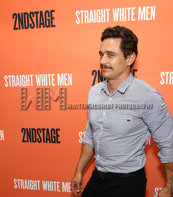 James Franco attends the Opening Night Performance of 'Straight White Men' at the Hayes Theatre on July 23, 2018 in Chicago.