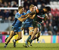 Manu Tuilagi of Leicester Tigers takes on the London Irish defence. Aviva Premiership match, between Leicester Tigers and London Irish on January 6, 2018 at Welford Road in Leicester, England. Photo by: Patrick Khachfe / JMP