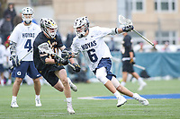 Washington, DC - February 23, 2019: Georgetown Hoyas Lucas Wittenberg (6) runs with the ball during game between Towson and Georgetown at  Cooper Field in Washington, DC.   (Photo by Elliott Brown/Media Images International)