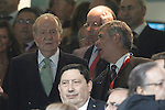 Juan Carlos I of Spain with the President os the Royal Spanish Football Federation (RFEF) Angel Maria Villa (r) during Real Madrid's against Atletico de Madrid's spanish KIng's Cup Final match.May 17,2013. (ALTERPHOTOS/Acero)