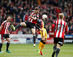 Chris Basham of Sheffield Utd in action during the English League One match at Bramall Lane Stadium, Sheffield. Picture date: April 17th 2017. Pic credit should read: Simon Bellis/Sportimage