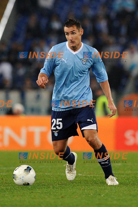 Miroslav Klose (Lazio)..Roma, 26/10/2011 Stadio Olimpico.Football Calcio 2011/2012 .Lazio vs Catania 1-1.Campionato di calcio Serie A.Foto Insidefoto Antonietta Baldassarre