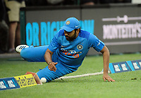 Rohit Sharma is beaten to the boundary during the international Twenty20 cricket match between NZ Black Caps and India at Westpac Stadium in Wellington, New Zealand on Wednesday, 6 February 2019. Photo: Dave Lintott / lintottphoto.co.nz