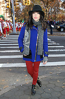 NEW YORK, NY - NOVEMBER 22: Carly Rae Jepsen at the 86th Annual Macy's Thanksgiving Day Parade on November 22, 2012 in New York City. Credit: RW/MediaPunch Inc. /NortePhoto