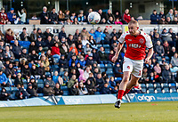 Fleetwood Town's Paddy Madden heads at goal<br /> <br /> Photographer Andrew Kearns/CameraSport<br /> <br /> The EFL Sky Bet League One - Wycombe Wanderers v Fleetwood Town - Saturday 4th May 2019 - Adams Park - Wycombe<br /> <br /> World Copyright © 2019 CameraSport. All rights reserved. 43 Linden Ave. Countesthorpe. Leicester. England. LE8 5PG - Tel: +44 (0) 116 277 4147 - admin@camerasport.com - www.camerasport.com
