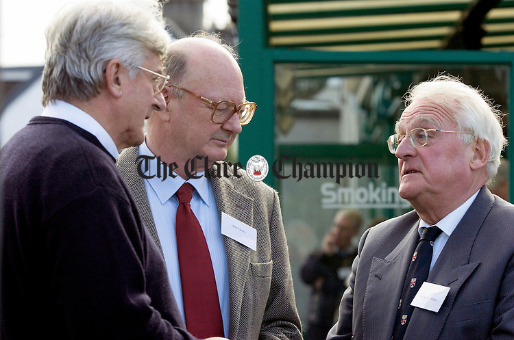 L-R fr Harry Bohan, Paul Tansey and Maurice Neligan.Pic Arthur Ellis.