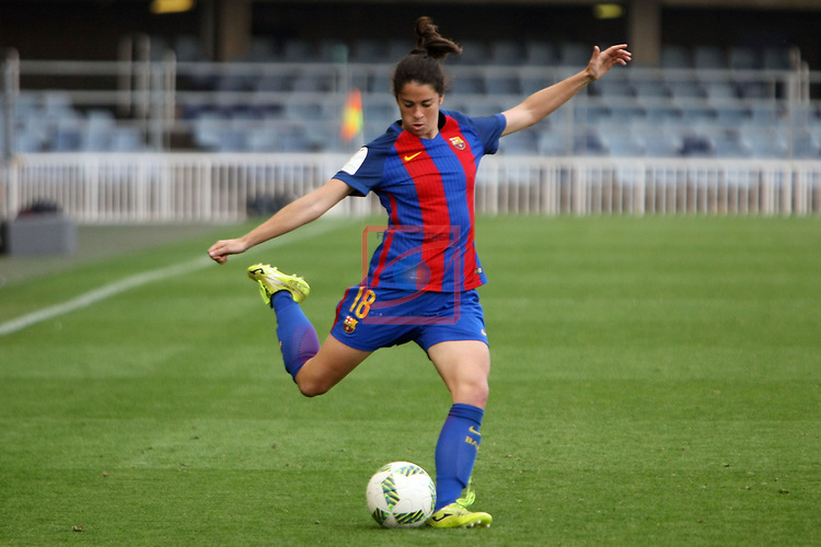 Spanish Women's Football League Iberdrola 2016/17 - Game: 21.<br /> FC Barcelona vs RCD Espanyol: 5-0.<br /> Marta Torrejon.