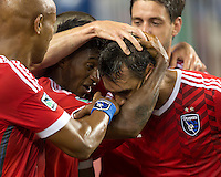 Santa Clara, California - Saturday August 2, 2014: The San Jose Earthquakes defeated the Seattle Sounders FC 1-0 during a Western Conference showdown and first-ever MLS game at Levi's Stadium.