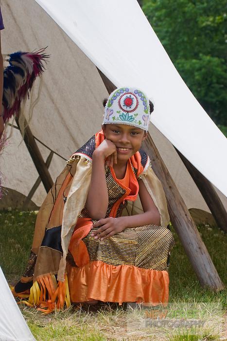 In full Regalia, at the Nanticoke Lenni-Lenapi Indian Pow Wow
