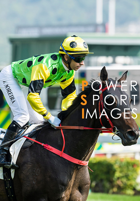 Jockey Joao Moreira riding Nothingilikemore in the Race 3, Flying Dancer Handicap, during the Longines Hong Kong International Races at Sha Tin Racecourse on December 10 2017, in Hong Kong, Hong Kong. Photo by Victor Fraile / Power Sport Images