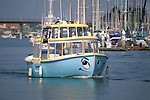 Water taxi in the Channel Islands Harbor, Oxnard, Ventura County, California
