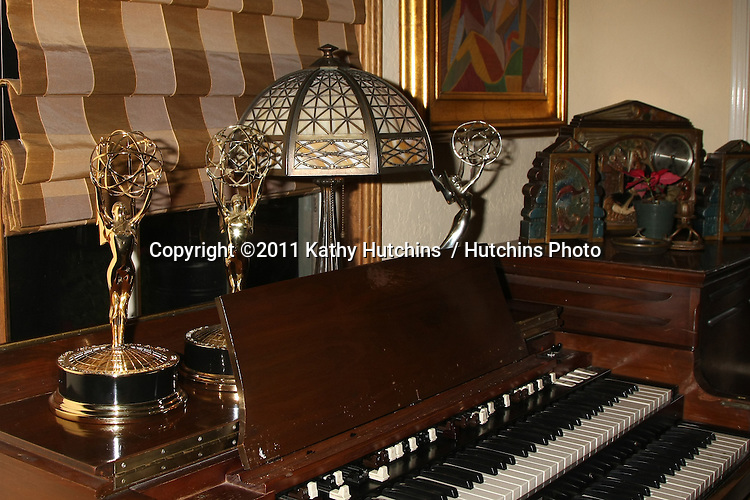 LOS ANGELES - DEC 17:  Heather Tom's 3 Emmys on antique organ at the 2011 Tom / Achor Annual Christmas Party at Private Home on December 17, 2011 in Glendale, CA