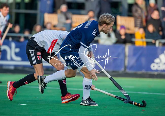 AMSTELVEEN - Dennis Warmerdam (Pinoke) tijdens de competitie hoofdklasse hockeywedstrijd heren, Pinoke-Amsterdam (1-1)   COPYRIGHT KOEN SUYK