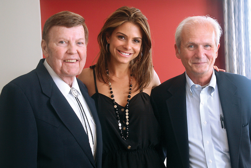 Rex Trailer (left), Maria Menounos, Pete Chvany during Maria's visit to campus. 2008
