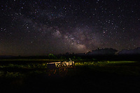 The Milky Way over the Flying W Ranch in the Flint Hills of Kansas.