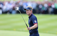 Luke Donald acknowledges the crowd after completing his round - PGA European Tour Golf at Wentworth, Surrey 25/05/14 - MANDATORY CREDIT: Rob Newell/TGSPHOTO - Self billing applies where appropriate - 0845 094 6026 - contact@tgsphoto.co.uk - NO UNPAID USE