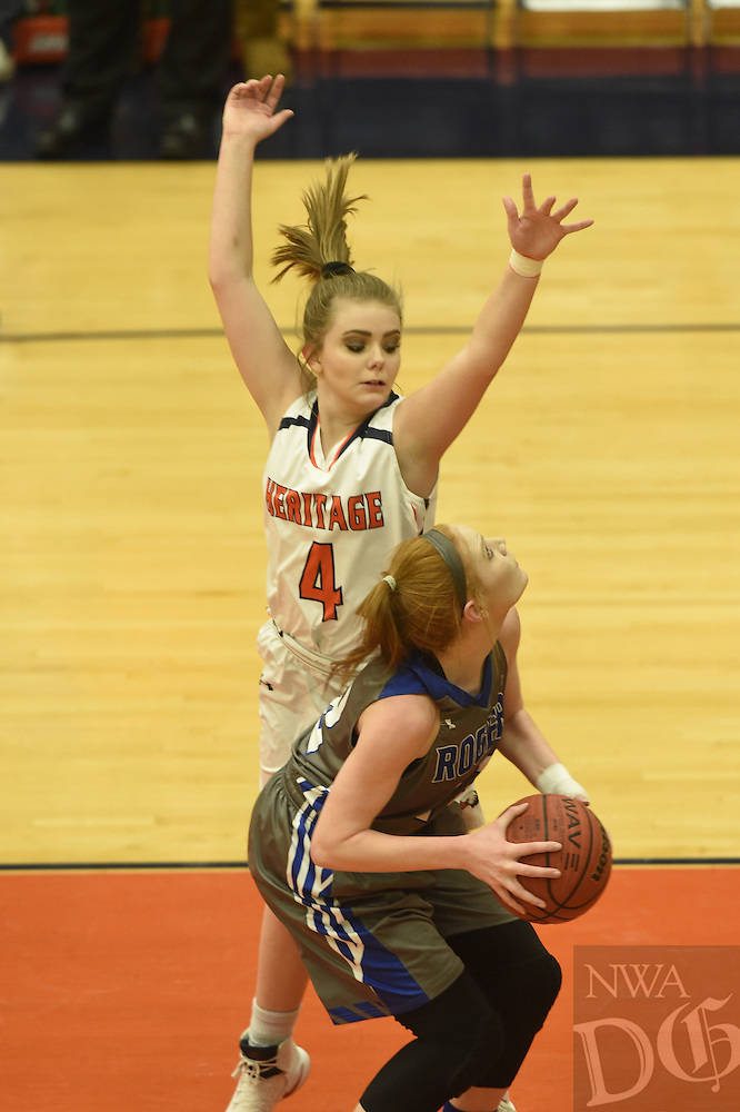 NWA Democrat-Gazette/MICHAEL WOODS @NWAMICHAELW<br /> Rogers High School vs Heritage High school Tuesday, January 10, 2017 during their game at Heritage High School in Rogers.