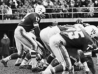 Jackie Parker Toronto Argonauts quarterback 1963. Photo copyright Scott Grant.