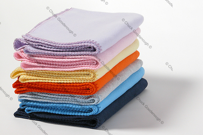 Baby Blankets folded Flat in a Stack Apparel Accessories Off Figure Styling