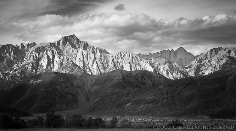 """With apologies to Ansel Adams, this shot is from the same perspective as his """"Winter Sunrise."""" Among other things, there's no snow in this shot, but it was fun to stand a similar place and try to, in his words, """"make a photograph."""""""
